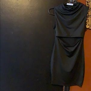 Casual black dress wore once